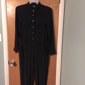 NWOT Madewell black 3/4 sleeve jumpsuit